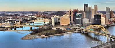 Photograph - Pitsburgh Spring Time Panorama by Adam Jewell