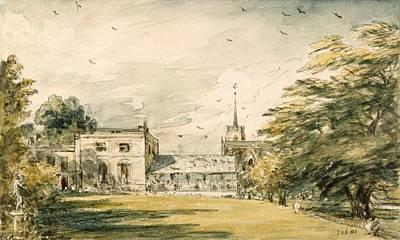Garden Drawing - Pitt Place, Epsom by John Constable