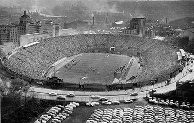 Photograph - Pitt Stadium 1956 by Angela Rath