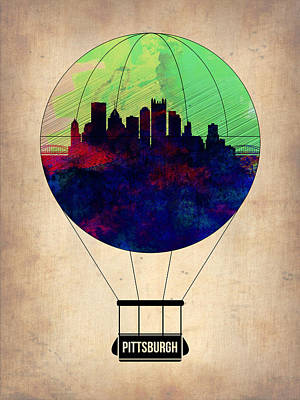 Pittsburgh Air Balloon Art Print by Naxart Studio