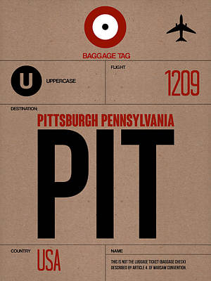 Travel Mixed Media - Pittsburgh Airport Poster 1 by Naxart Studio