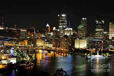 Pittsburgh Autumn Night 1 Art Print by Jay Nodianos