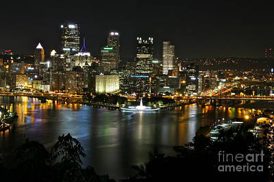 Pittsburgh Autumn Night 2 Art Print by Jay Nodianos