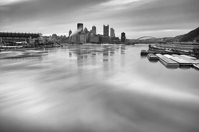 Pittsburgh  Black And White Art Print by Emmanuel Panagiotakis