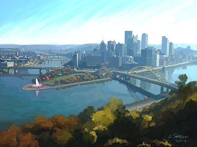 Pittsburgh Painting - Pittsburgh Classic View 1 by Lee Steiner