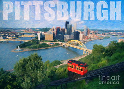 Photograph - Pittsburgh Digital Painting by Sharon Dominick