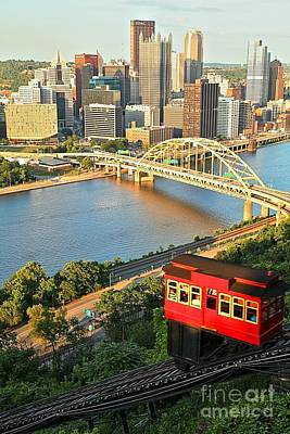Pittsburgh Duquesne Incline Art Print by Adam Jewell