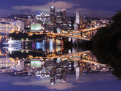 The Who - Pittsburgh Dusk Reflection 3 by Cityscape Photography