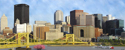 Pittsburgh From Pnc Park Art Print by David Head