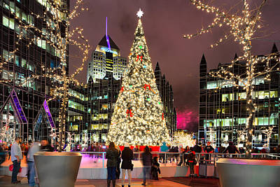 Heinz Field Photograph - Pittsburgh Holiday Season 2 by Emmanuel Panagiotakis