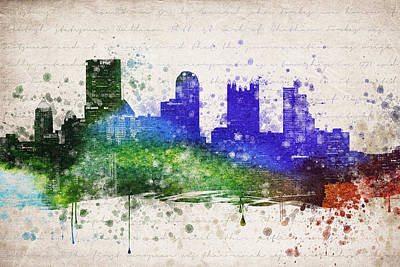 Downtown Pittsburgh Digital Art - Pittsburgh In Color by Aged Pixel