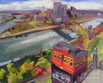 Steelers Painting - Pittsburgh Incline Of Mine by Tara Zalewsky