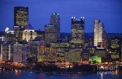 Pittsburgh Light Up Night Original by John Devlin