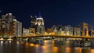 Pittsburgh Lights Art Print by Mike Vosburg