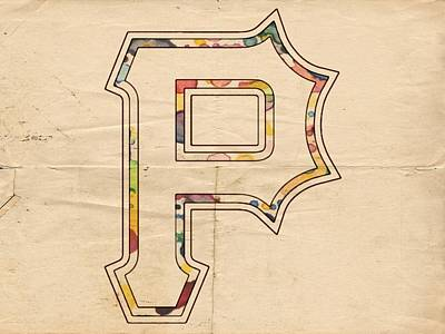 Pittsburgh Painting - Pittsburgh Pirates Logo Art by Florian Rodarte