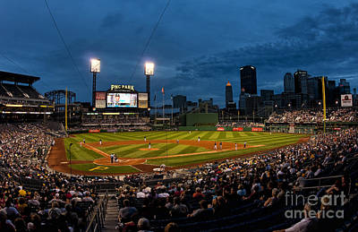 Pittsburgh Pirates Playing At Pnc Art Print by Bill Bachmann