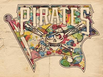 Painting - Pittsburgh Pirates Poster Art by Florian Rodarte