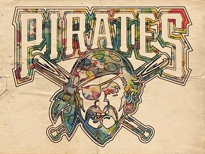 Painting - Pittsburgh Pirates Poster Vintage by Florian Rodarte