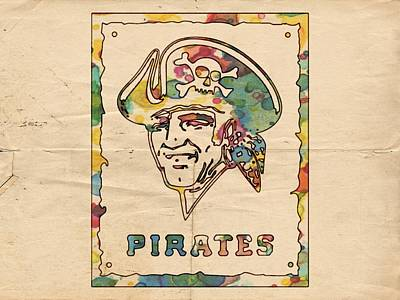 Pittsburgh Painting - Pittsburgh Pirates Vintage Art by Florian Rodarte