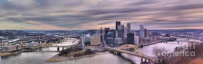Photograph - Pittsburgh Purple Sunset by Adam Jewell