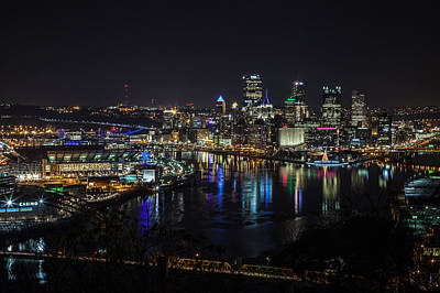 Pittsburgh Skyline At Night Art Print