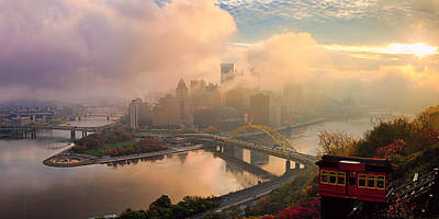 Photograph - Pittsburgh Skyline Fall  by Emmanuel Panagiotakis