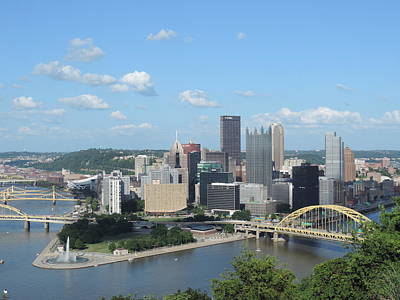 Pittsburgh Skyline Photograph - Pittsburgh Skyline From Mount Washington by Cityscape Photography
