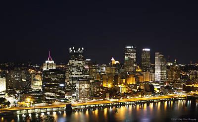 Pittsburgh Skyline Art Print by Kathy Ponce