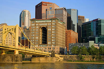 Modern Photograph - Pittsburgh Skyline On Allegheny River by Richard Cummins