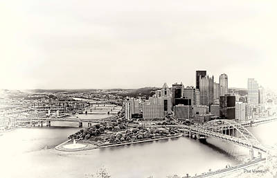 Photograph - Pittsburgh Skyline - Sepia by Dyle   Warren