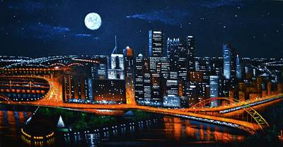 Pittsburgh Painting - Pittsburgh  Sold by Thomas Kolendra