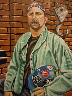 Painting - Pittsburgh Steam Fitter by James Guentner