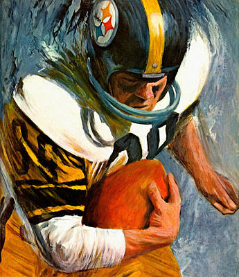 Pittsburgh Sports Painting - Pittsburgh Steelers 1966 Vintage Print by Big 88 Artworks