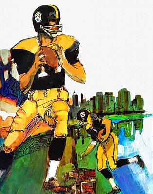 Pittsburgh Sports Painting - Pittsburgh Steelers 1967 Vintage Print by Big 88 Artworks