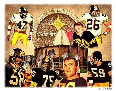 Pittsburgh Steelers Nfl Hall Of Fame Defensive Legends Print by Charles Ott