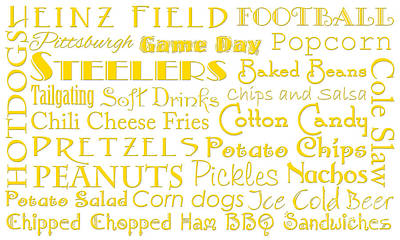 Pittsburgh Steelers Game Day Food 1 Art Print by Andee Design