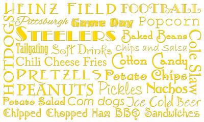 Pittsburgh Steelers Digital Art - Pittsburgh Steelers Game Day Food 1 by Andee Design
