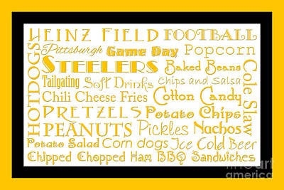 Digital Art - Pittsburgh Steelers Game Day Food 2 by Andee Design