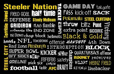 Pittsburgh Steelers Print by Jaime Friedman