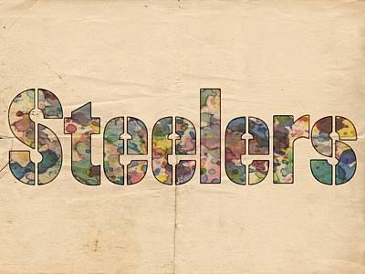 Pittsburgh Steelers Logo Vintage Art Print by Florian Rodarte
