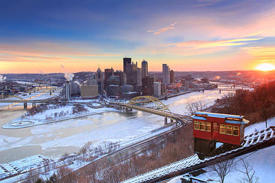 Heinz Field Photograph - Pittsburgh Winter 2 by Emmanuel Panagiotakis