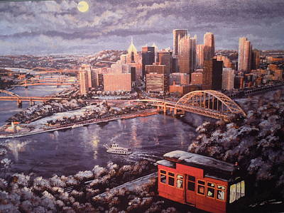Painting - Pittsburgh Winter by James Guentner