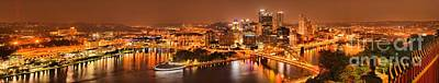 Pittsburgh's Famous Skyline Art Print by Adam Jewell