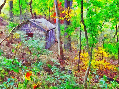 Digital Art - Pittsburgh's Frick Park In October. Green by Digital Photographic Arts
