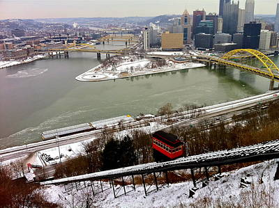 Photograph - Pittsburgh's Point And Duquesne Inlcine by Denise Mazzocco