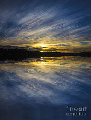 Pittwater Sunset Abstract Art Print by Avalon Fine Art Photography