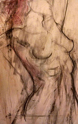 Tiffany Drawing - Pitys Nymph Figure Study by Tiffany Chaney