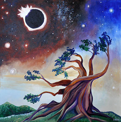 Solar Eclipse Painting - Pivotal Moment by Cedar Lee