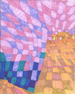 Mesa Drawing - Pixel Mesa by Jon Hayes
