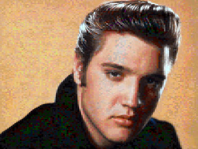 Elvis Presley Digital Art - Pixelated Elvis by Gina Dsgn